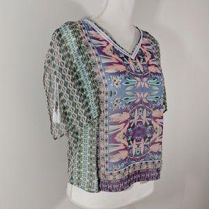 Nanette Lepore Tops - Nanette Lepore Split Sleeve Sheer Top